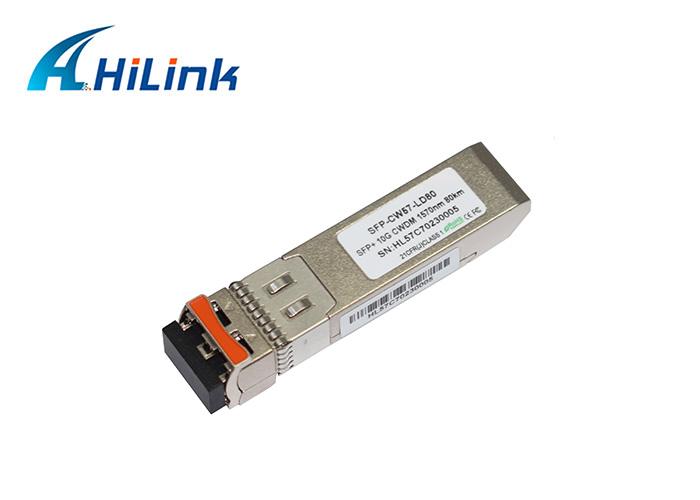 10G 1470nm-1610nm 80km CWDM SFP+