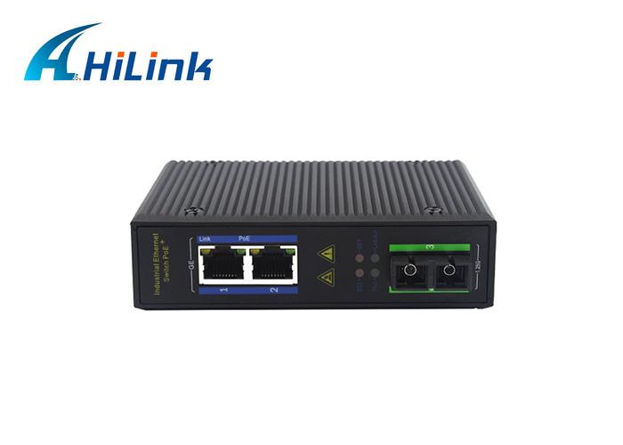 2-port 10/100/1000Base Ethernet+ 1-port 1000Base SC industrial Media Converter Fiber